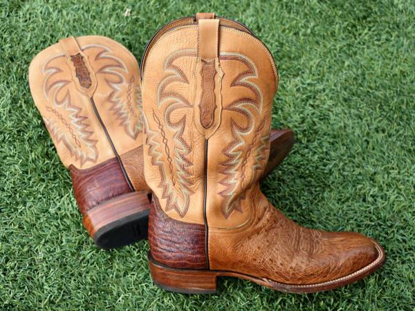 Photo Exquisite Lucchese Exotic Leather Men39s Boots, Beautiful Condition - $250 (Gold Canyon)