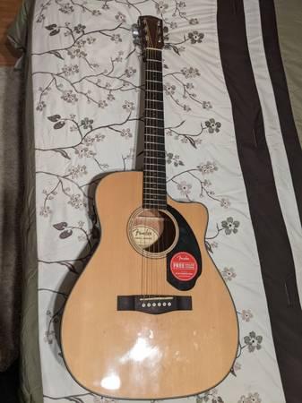 Photo Fender CD-60SCE NAT Acoustic Guitar New - $300 (PHOENIX)