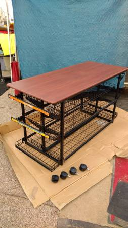 Photo Heavy duty retail merchandising table - NEW - easy to assemble - $199 (deer valley)