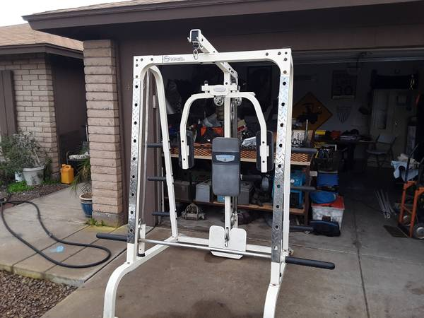 Photo Iron grip strength smith machinesquat rackcable pulley machine - $300