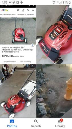 Photo Lawn mower Toro 6.5 Hp used please read description - $120 (Baseline Rd and 28th street Phoenix)