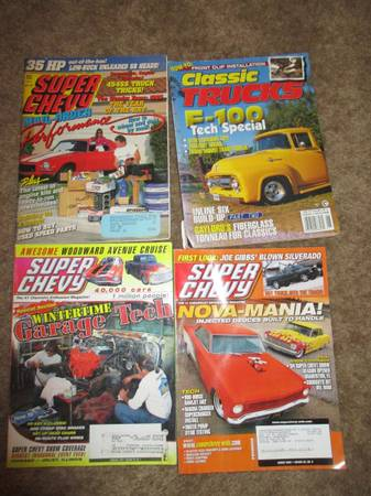 Photo Lot of Old Chevy and Car Magazines - $25 (67th Ave. and Bell Rd.)