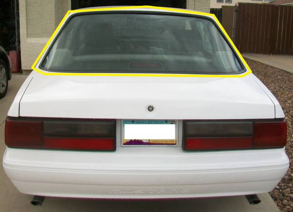 Photo Rear Window Trim for 79-93 Mustang Coupe Notch - $85 (Mesa)