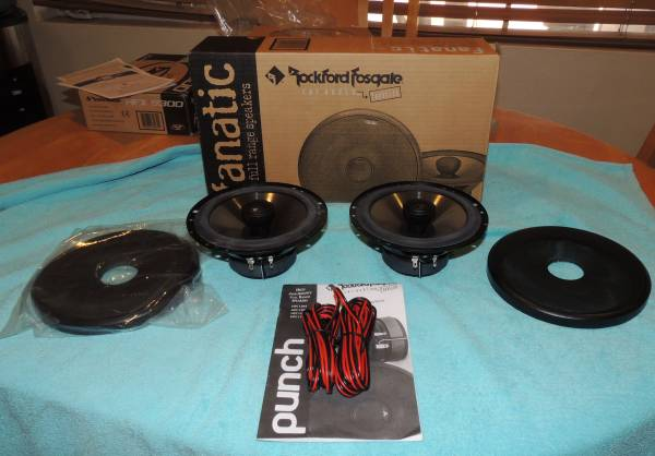 Photo Rockford Fosgate Fanatic High Performance 6.5 2 Way Full Rnge Speakers - $120 (south scottsdale)