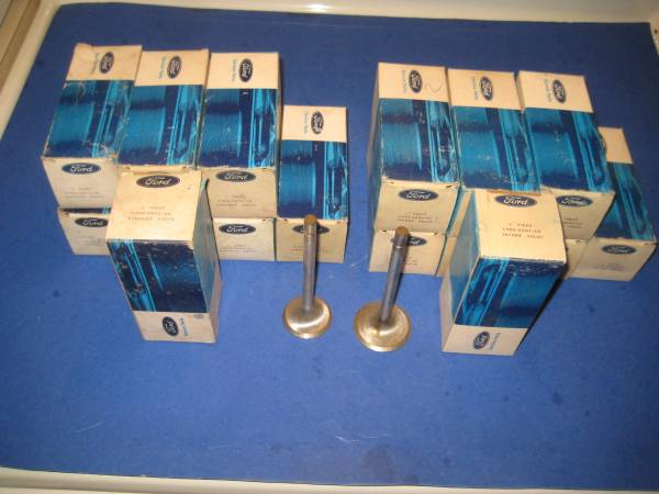 Photo Set of 16, NOS Ford GT-40 Valves, for C6FE 289 heads - $500 (N. Tempe)