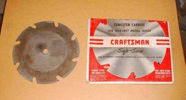 Photo Used Craftsman 9 Inch Carbide Tipped Saw Blade - $10 (South Scottsdale)