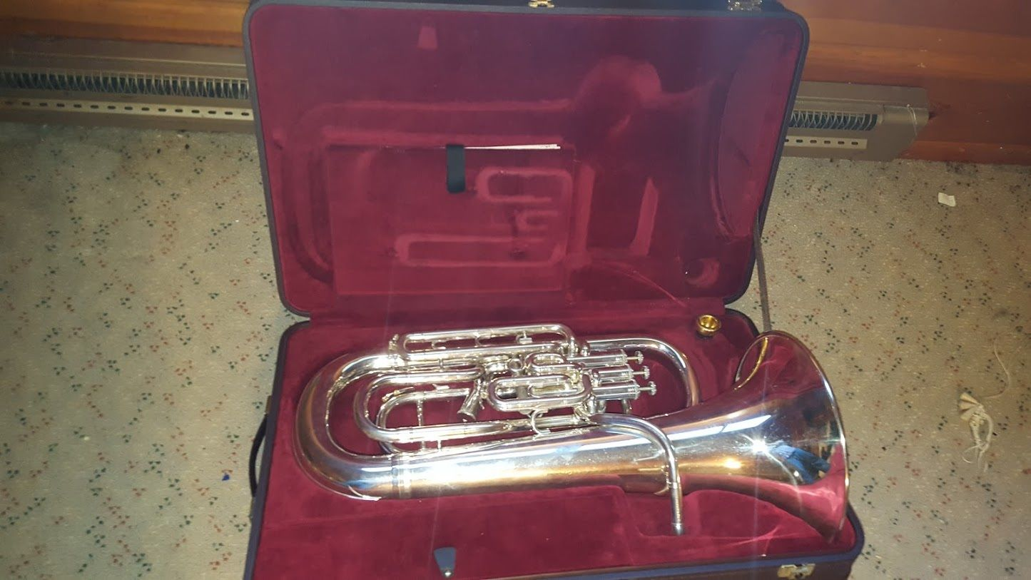 Photo Besson BE967 Sovereign Series Silver Compensating Euphonium