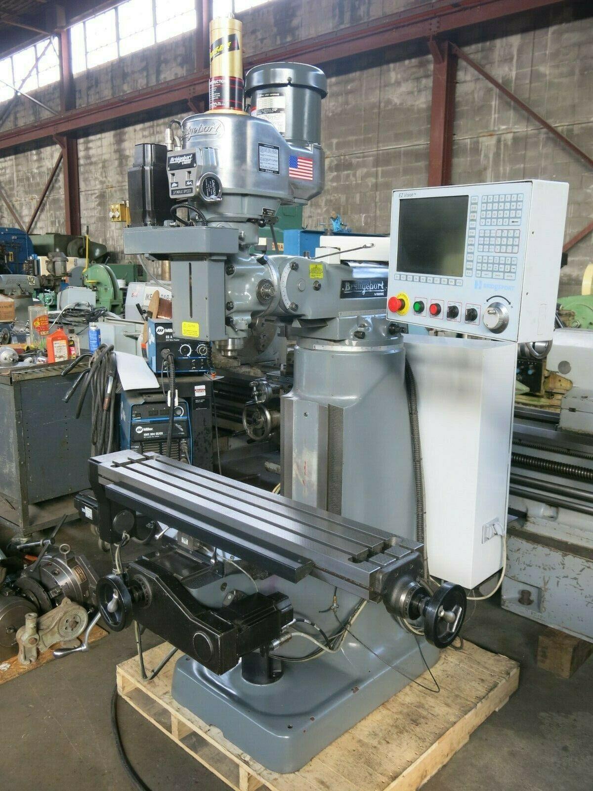 Photo Hardinge Bridgeport EZ Vision 9x48 3 Axis CNC Milling Machine
