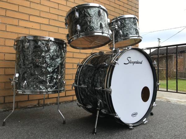Photo 197039s Slingerland New Rock Outfit No. 50N Black Diamond Pearl Drums - $1,200 (Shaler Township)