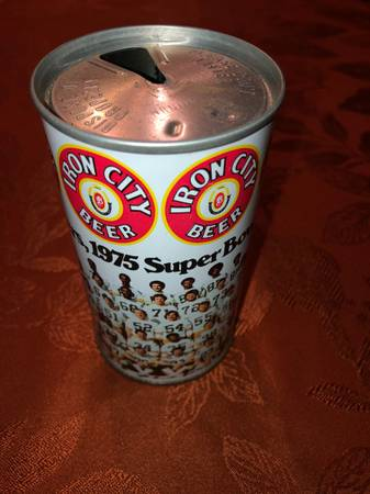 Photo 1975 Iron City Beer Can Pittsburgh Steeler Super Bowl Chs - $10 (Ross Township)