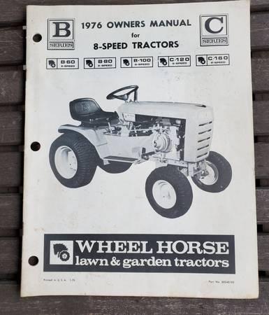 Photo 1976 Wheel Horse Lawn Tractor Operator39s Manual B-60 thru C-160 - $20 (Wellsburg)