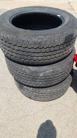 Photo (3) 26560R18 Goodyear Wrangler Used Tires - $80 (Robinson Township, PA)