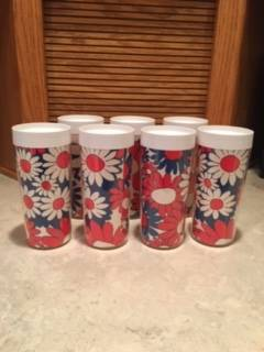 Photo 7 Retro Flower Power Thermo Serv Tumbler Glass - $25 (Butler)