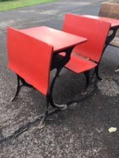 Photo Antique 3 Piece School Desk RARE - $165 (Butler)