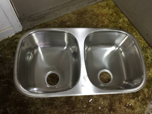 Photo Brand New Franke Stainless Steel Double Bowl Sink - $160 (Whitehall)