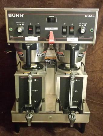Photo Bunn Dual Coffee Maker - $360 (Indiana)
