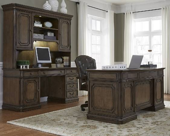Photo (Demands Attention..Mahogany ..)Three)3 Piece Desk Set) - $3,125 (Pittsburgh,Pennsylvania)