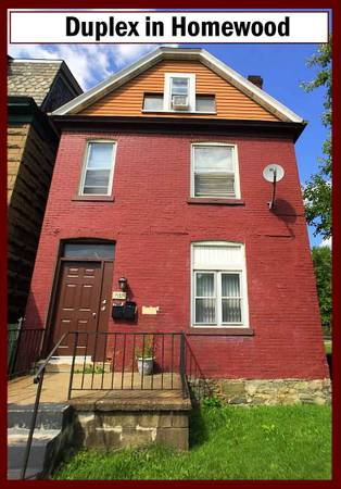 Photo Duplex  SECTION 8 APPROVED (Homewood  4 Minutes away from East Liberty)