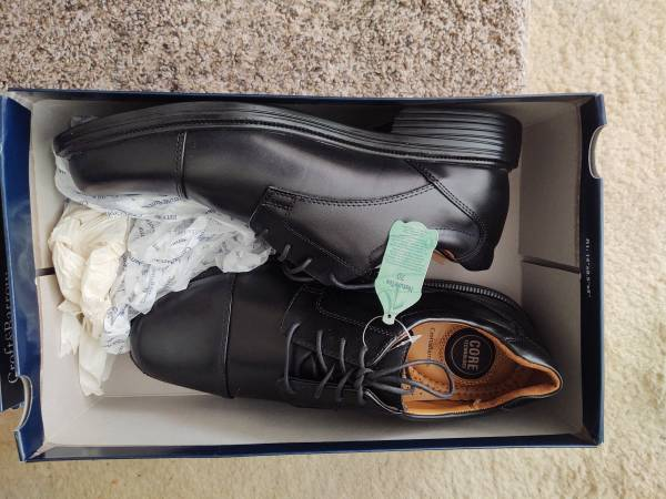 Photo NEW Croft  Barrow Black Leather Dress Shoes - $20 (Downtown Pittsburgh)