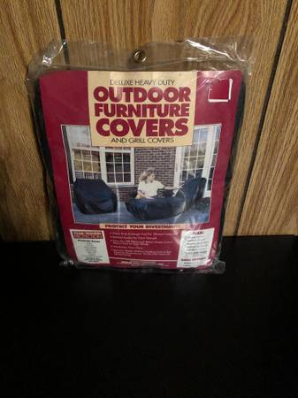 Photo NEW Deluxe Heavy Duty Outdoor Furniture Chain Cover 36quotX36quot - $8 (Sarver)