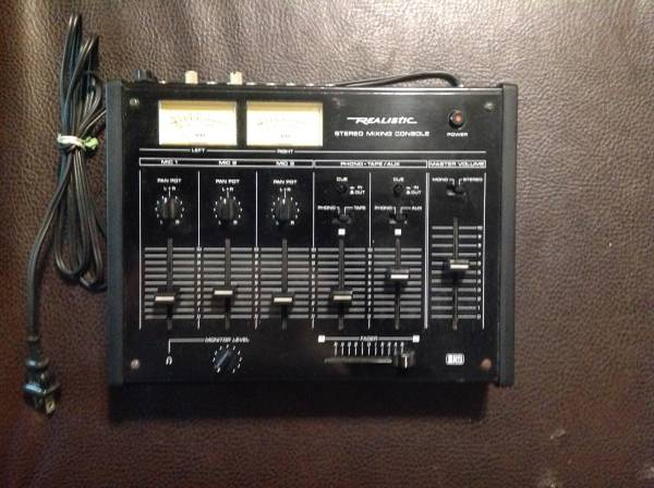 Photo Realistic stereo mixing console no 32-1200B - $25 (Pittsburgh highland park)