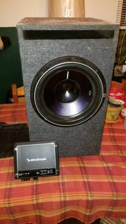 Photo Rockford fosgate car subwoofer and  - $300 (Pittsburgh)