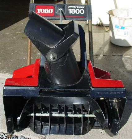 Photo Snow Blower 18 inch Toro Electric Power Curve 1800 - $25 (Pittsburgh)