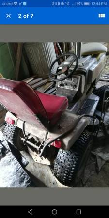 Photo Used Craftsman and Sears riding lawn mowers, BOTH engines run, wdecks - $250 (PITTSBURGH)