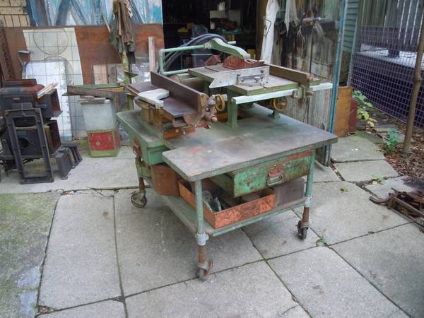 Photo Vintage Tools and Table Jointer Table Saw - $1,200 (Pittsburgh)
