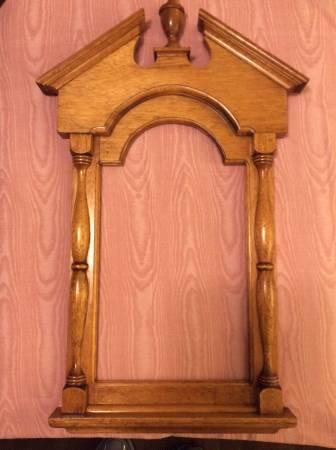 Photo Vintage Wood Frame, Framed Mirror, Wall Art - $35 (Wexford)