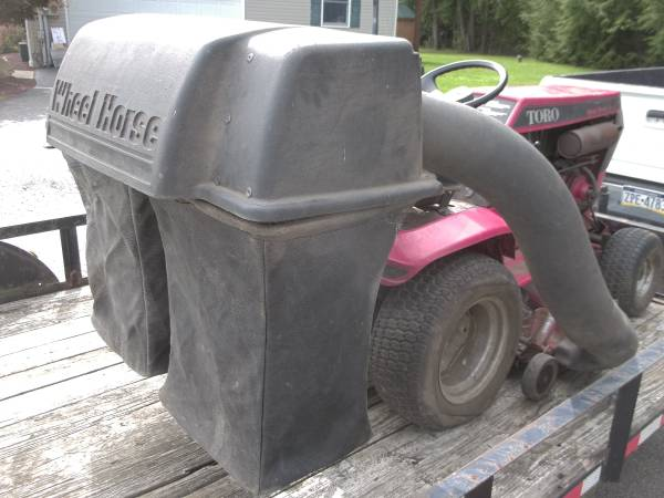Photo wheelhorse rear grass or leaf bagger - $200 (edinburg Pa)