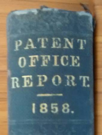 Photo 1858 US Patent Office Report MECHANICS volume III (ONLY) 35th Congress - $80 (CONCORD NH)