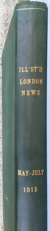 Photo 1915 LONDON NEWS  THE GREAT WAR  Newspaper Reports Photos  HB BOOK - $75 (CONCORD NH)