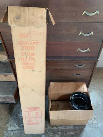 Photo Air Jet Chimney Pipe and T section - $30 (Plattsburgh)