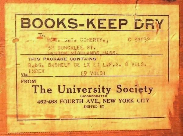 Photo BOYS  GIRLS BOOKSHELF University Society NYC 1920 9vols  Ship Crate - $120 (CONCORD NH)