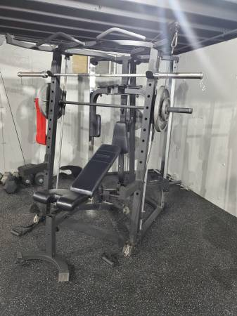 Photo Fitness gear smith machine wout weights - $450 (West Chazy)