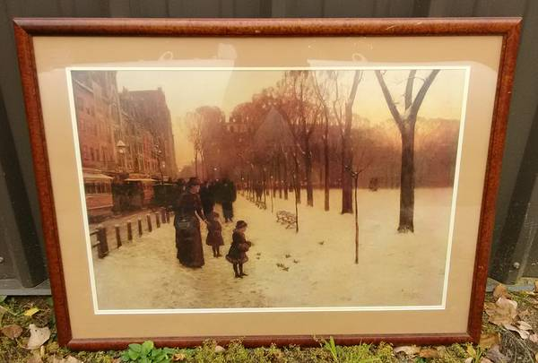 Photo Large Framed Print BOSTON COMMON at TWILIGHT by Childe Hassam 1885-86 - $100 (CONCORD NH)