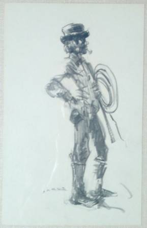 Photo Matted  Framed Charcoal SKETCH of Bullfighter by JacosJacobs () - $40 (CONCORD NH)