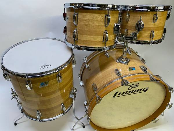Photo Mid 7039s Ludwig Butcher block cortex drum set - $1,450 (concord nh)