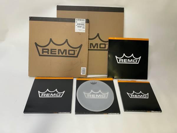 Photo Remo silent stroke Drum heads - $60 (concord nh)