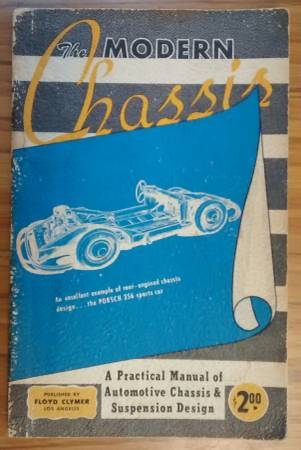Photo THE MODERN CHASSIS 1951 Floyd Clymer Suspension Design Manual Auto Car - $25 (CONCORD NH)