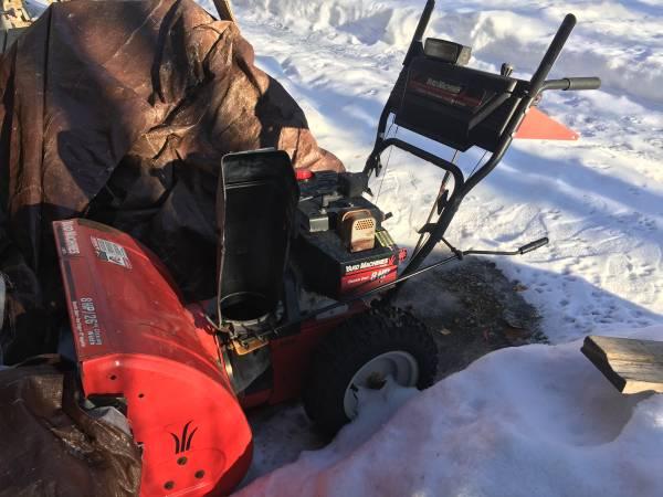 Photo Yard Machines 26in 8HP Snow Blower - $240