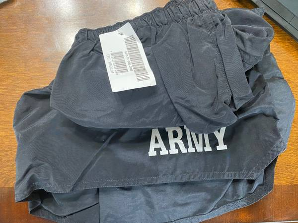 Photo 2 Brand new pairs of US Army issued PT or IPFU shorts. Still new with - $15 (Stroudsburg)