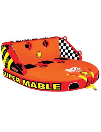 Photo Airhead SPORTSSTUFF Super Mable 1-3 Rider Lake Boat Towable Tube. New - $300 (White Mills)