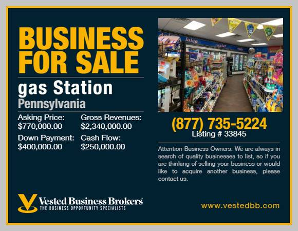 Photo Branded Gas Station for sale in Monroe County - 33845 - $770,000 (Monroe County, PA)