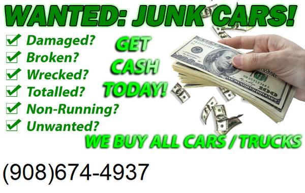 Photo CASH FOR JUNK CARS ALL MONROE COUNTY PA REMOVAL SAME DAY - $1000000 (STROUDSBURG)