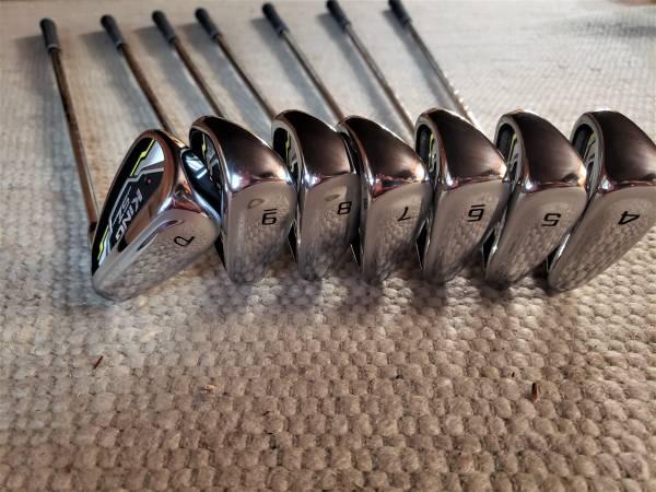 Photo Cobra Golf Club King SpeedZone 4-PW Iron Set Stiff Steel Excellent - $575 (Milford, PA)
