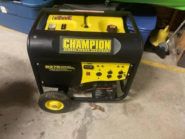 Photo Generator - Chion - 7500 Watt Electric Start Portable Generator - $650 (Hawley PA)