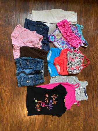 Photo Girls Size 4T Assorted Summer Clothes, Shorts, Bathing Suits, etc - $20 (Stroudsburg)