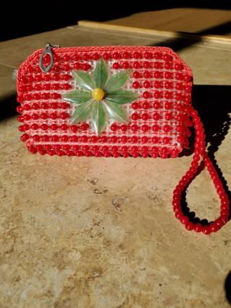 Photo Handmade red mini purse - $12 (Bushkill)